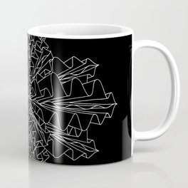 starburst line art - black Coffee Mug