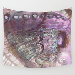 Shimmery Lavender Abalone Mother of Pearl Wall Tapestry