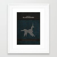 blade runner Framed Art Prints featuring Blade Runner by Ayse Deniz