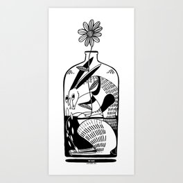 The hare in the bottle Art Print