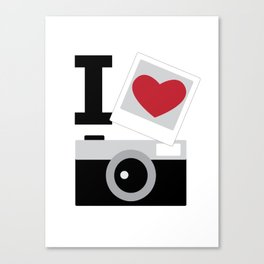 I love camera Canvas Print