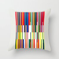 the national Throw Pillows featuring National Colors by Tom Davie