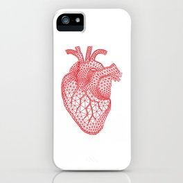 abstract red heart iPhone Case