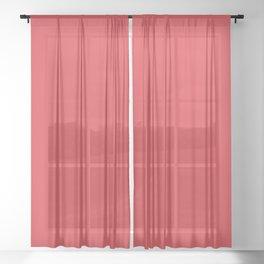 Poppy Red Sheer Curtain