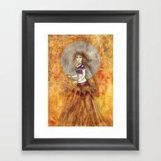 Sunset Belly Dancer Framed Art Print