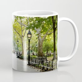Morning Stroll in the Village Coffee Mug
