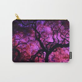 Under the Tree in Pink and Purple Carry-All Pouch