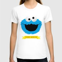 cookie monster T-shirts featuring C FOR COOKIE MONSTER by Emils Blums