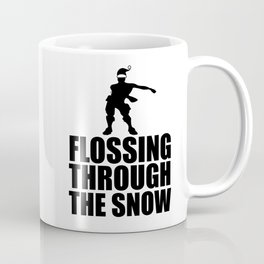 flossing through the snow funny Xmas Coffee Mug