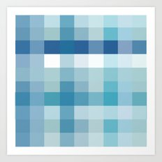 Pixelate Ocean Art Print