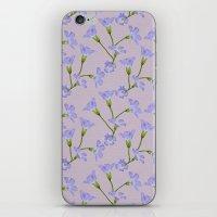 kansas iPhone & iPod Skins featuring Kansas Floral by Hannah Hughes