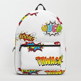 Pow Grrr Boom Thwack Comic Book Sounds Art Backpack
