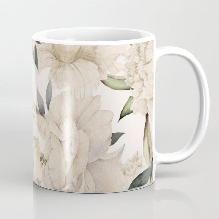 Peonies Pattern Kaffeebecher