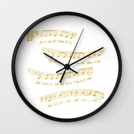 My Name is Alexander Hamilton | Musical Notes Wall Clock