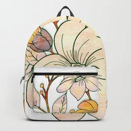 Pastel Floral Design Backpack