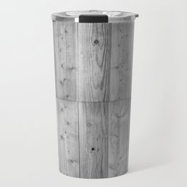 Wood 6 Black & White Travel Mug