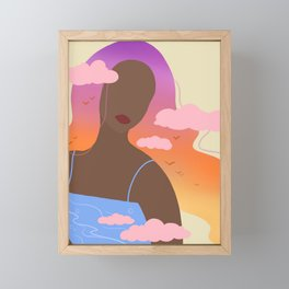 Sunset, Black Woman, Abstract, UNFRAMED, Minimalist Print, Minimalist Poster Art Framed Mini Art Print