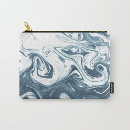 Marble swirl suminagashi minimal ocean waves watercolor ink marbled japanese art Carry-All Pouch