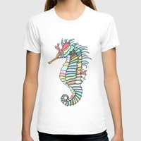 metallic T-shirts featuring Metallic Seahorse by J&C Creations
