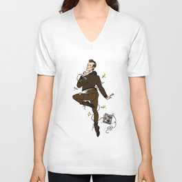 Deputy Andy Brennan Pin-up Unisex V-Neck