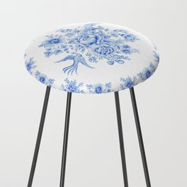 Blue asiatic pheasant Counter Stool