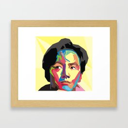 Pop Face Framed Art Print