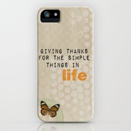 Giving Thanks iPhone Case