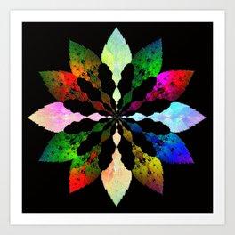 Wintery Leaves Art Print