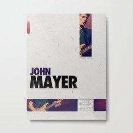 John Mayer Live in Los Angeles Poster Metal Print