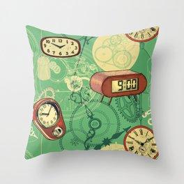 TIC TAC TIME Throw Pillow