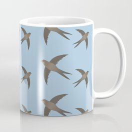 Common swift flying in the air vector Coffee Mug
