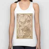 world maps Tank Tops featuring Old Maps by tanduksapi