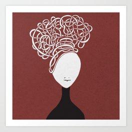Iconia Girls - Hanna Marsala Art Print