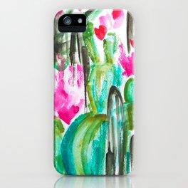 Pink Happy Plants iPhone Case