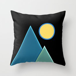 Sun, wind and mountains  Throw Pillow