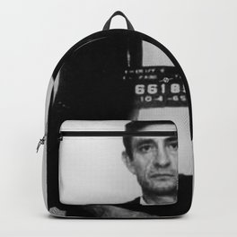 Johnny Cash Mug Shot Vertical Backpack