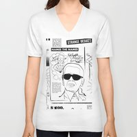 karl V-neck T-shirts featuring Karl Lagerfeld by CLSNYC