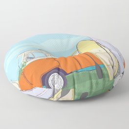 Best time to surfing Floor Pillow