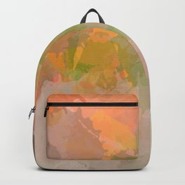 Modern contemporary Yellow Orange Abstract Backpack