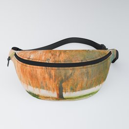 Weeping willow watercolor painting #7 Fanny Pack