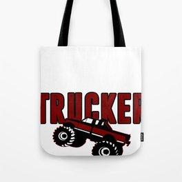 Trucker Trust Street Driver Monster Route Gift Tote Bag