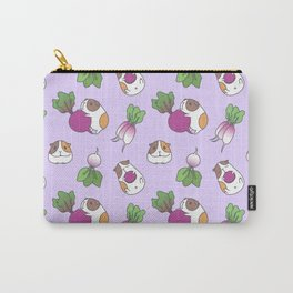Guinea Pig and Radish Pattern Carry-All Pouch