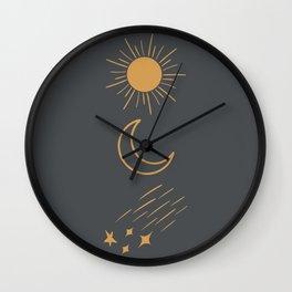 Sun, Moon and Stars Wall Clock