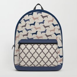 Elegant Dachshunds Pattern Backpack