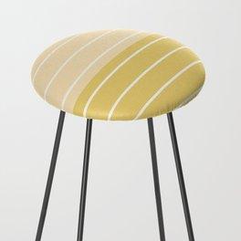 Two Tone Stripes - Yellow Counter Stool