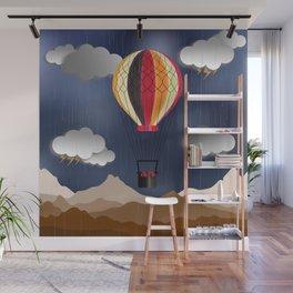 Balloon Aeronautics Rain Wall Mural