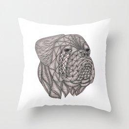 Dogue de Bordeaux Throw Pillow