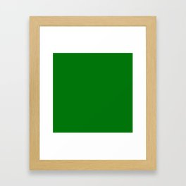 Christmas Holly and Ivy Green Velvet Color Framed Art Print