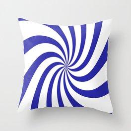 Spiral (Navy & White Pattern) Throw Pillow