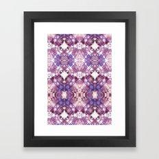 Purple Circle Framed Art Print